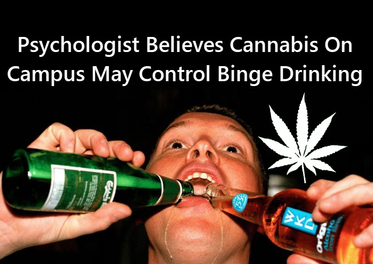 CANNABIS CAN REDUCE COLLEGE BINGE DRINKING